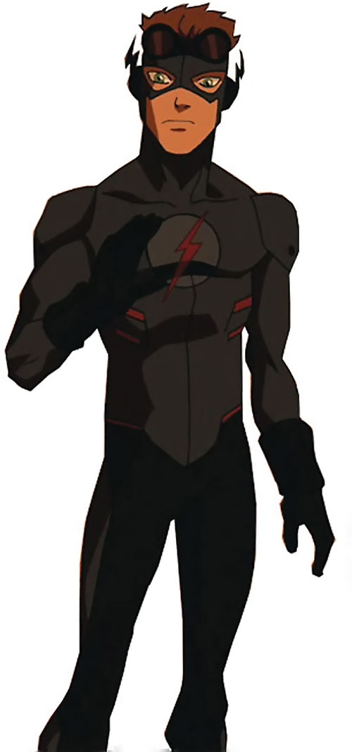 Kid Flash of Young Justice (Cartoon series) in a black costume