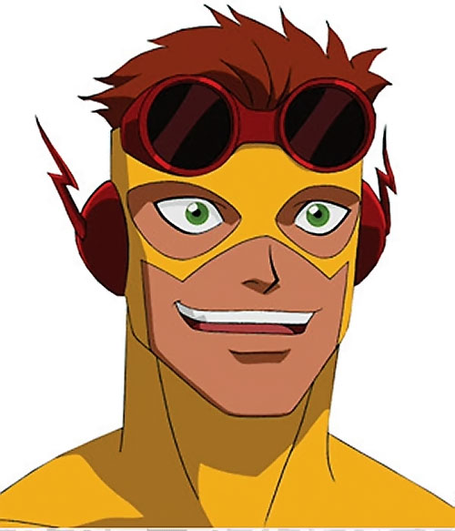 Kid Flash of Young Justice (Cartoon series) enthusiastic face closeup