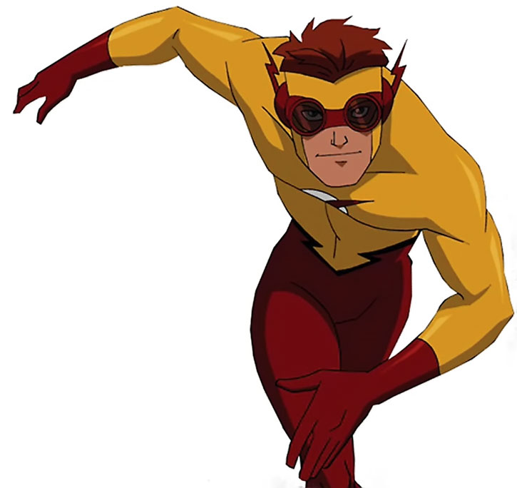 Kid Flash (animated version) running on white background