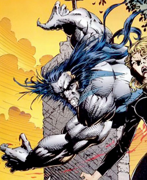 Kilgore (Image Comics) attacking a woman from behind