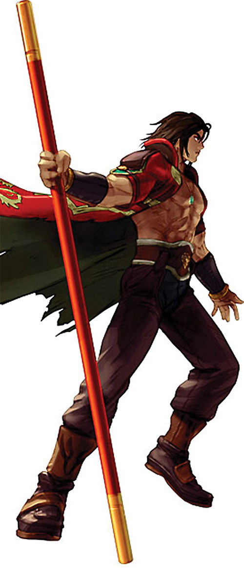 Kilik from Soul Calibur with his staff