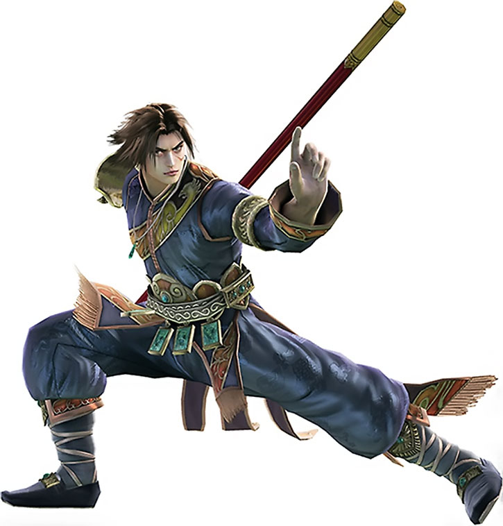Kilik posing with his staff