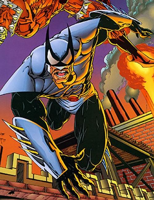 Kill-Cat (Erik Larsen Image Comics) running on rooftops