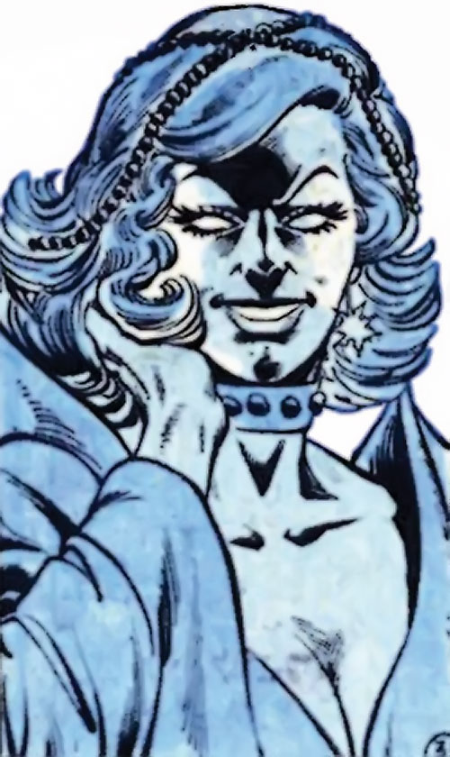 Killer Frost (Firestorm enemy) (DC Comics) (Crystal Frost) smiling