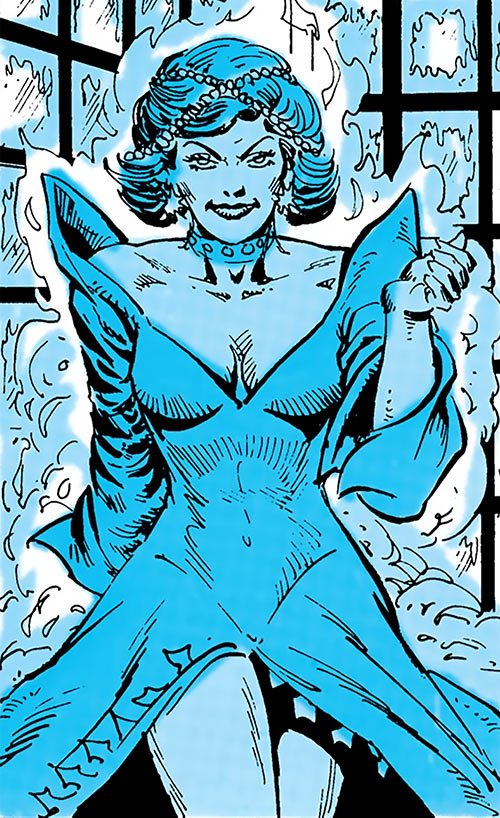 Killer Frost (Firestorm enemy) (DC Comics) (Crystal Frost) in a haze of cold