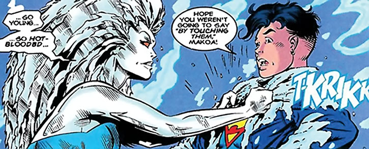 Killer Frost (Louise Lincoln) vs. Superboy
