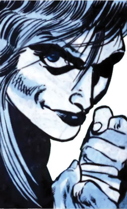 Killer Frost (Firestorm enemy) (DC Comics) (Lincoln) smirking face closeup