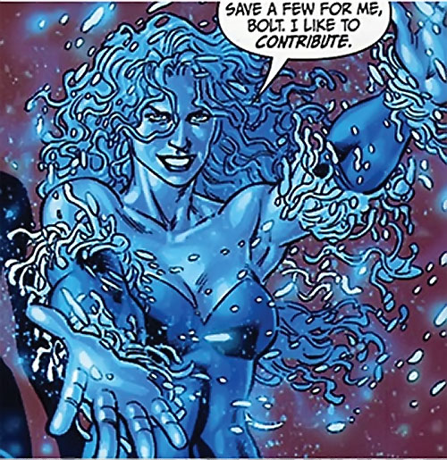 Killer Frost (DC Comics) (Lincoln mutated by Neron) looking blue