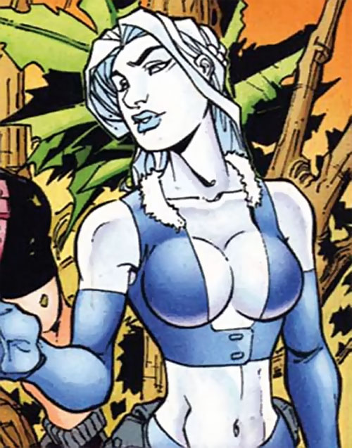Killer Frost (DC Comics) (Lincoln mutated by Neron) looking boobstastic