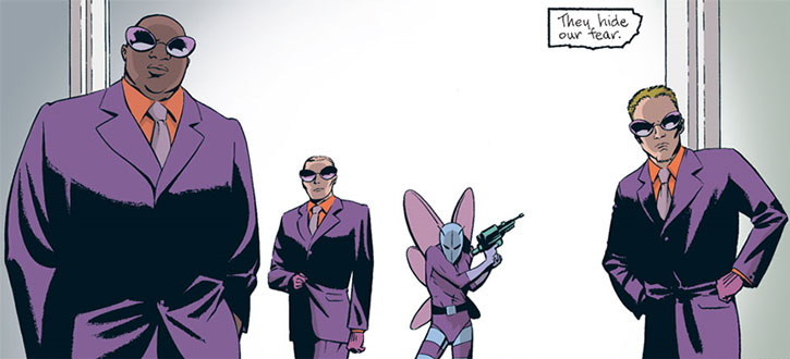 Modern Killer Moth and henchmen