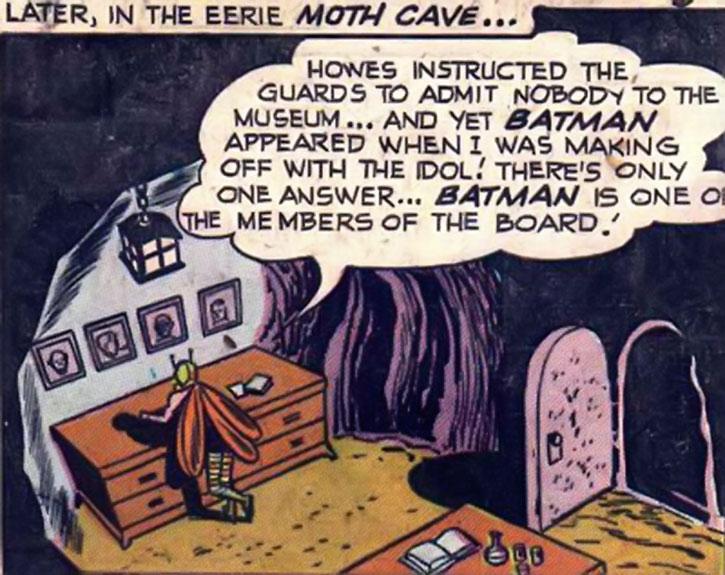Killer Moth pondering in his Moth Cave