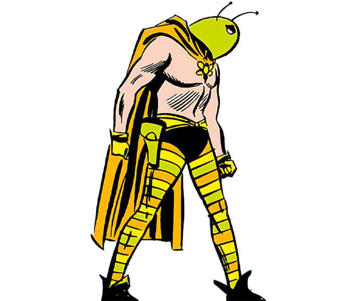 Killer Moth of Earth-1 (Batgirl enemy) (DC Comics) vintage art