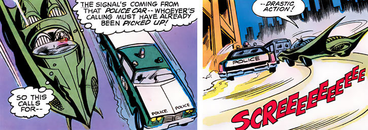Killer Moth of Earth-1 (Batgirl enemy) (DC Comics) custom car