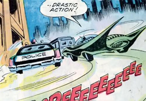 Killer Moth of Earth-1 (Batgirl enemy) (DC Comics) moth car