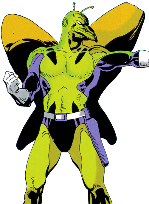 Killer Moth (post-Crisis DC Comics) with the green costume