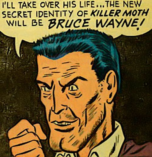 Killer Moth (Bob Kane Batman enemy) (DC Comics) face closeup