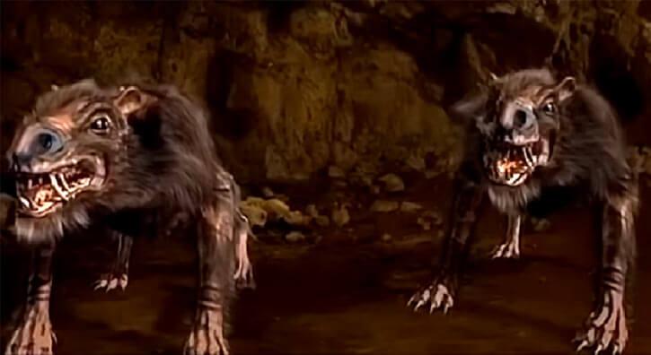 Return of the Killer Shrews (2012 movie monster) two shrews in a cave