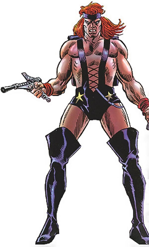 Killraven (Marvel Comics) with a pistol