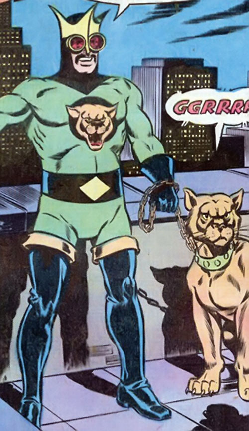 King Cougar (Jimmy Olsen enemy) (Superman DC Comics) and his pet cougar