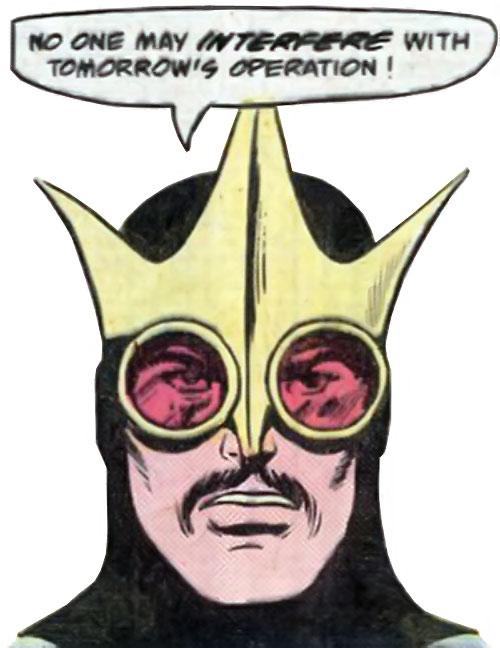 King Cougar (Jimmy Olsen enemy) (Superman DC Comics) face closeup