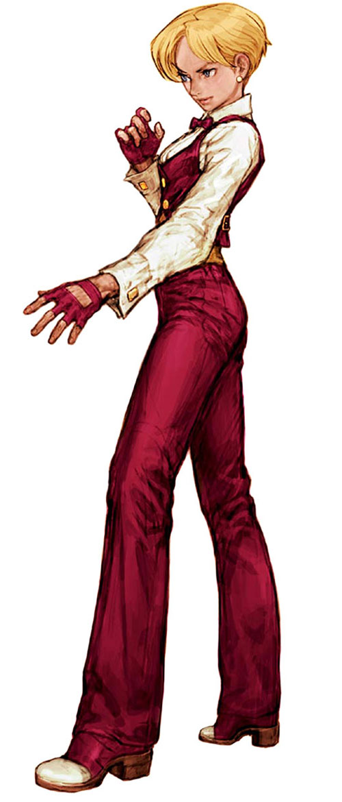 King (King of Fighters / Art of Fighting) in a loose fighting stance