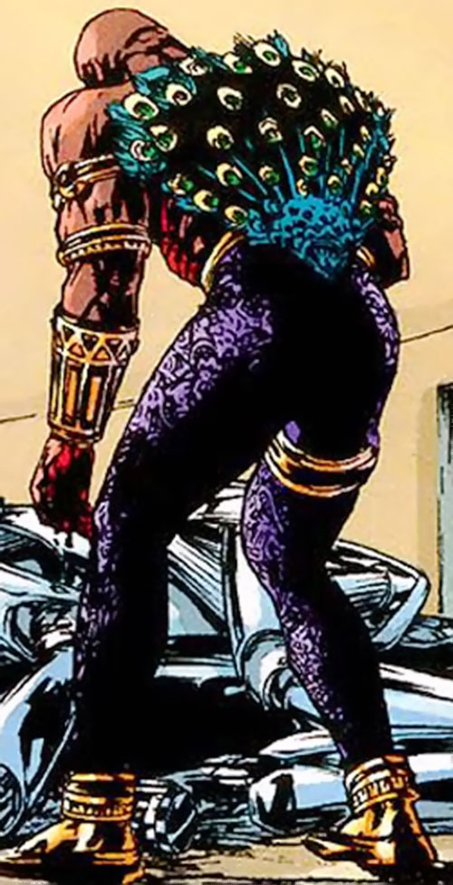 King Peacock (Top Ten comics) - back of costume