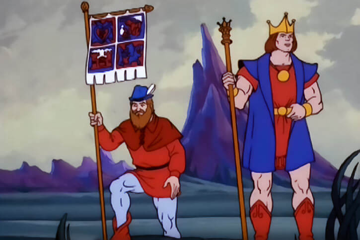 King Randor - Masters of the Universe - 1980s cartoon - As a young man