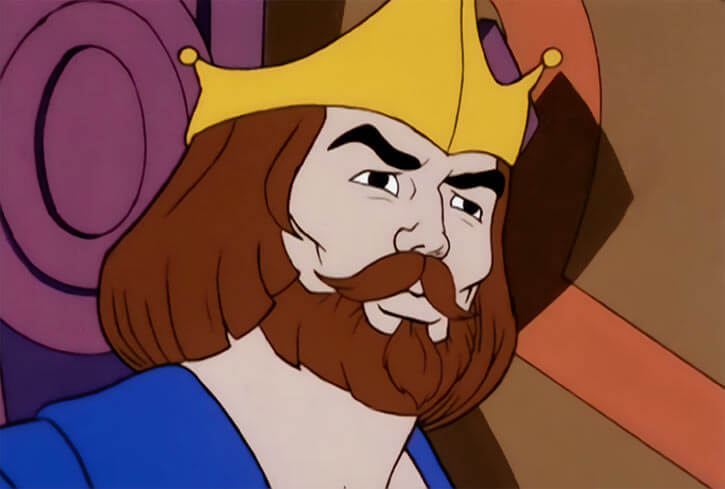 King Randor - Masters of the Universe - 1980s cartoon - Looking decisive