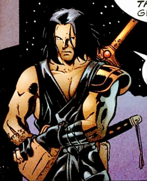 King Tiger (Dark Horse comics) dressed in black