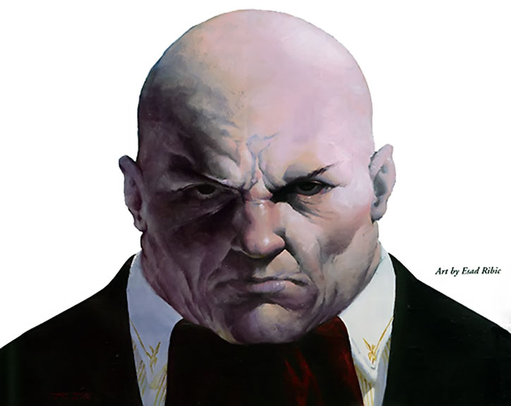 Kingpin (Wilson Fisk) painted portrait by Ribic