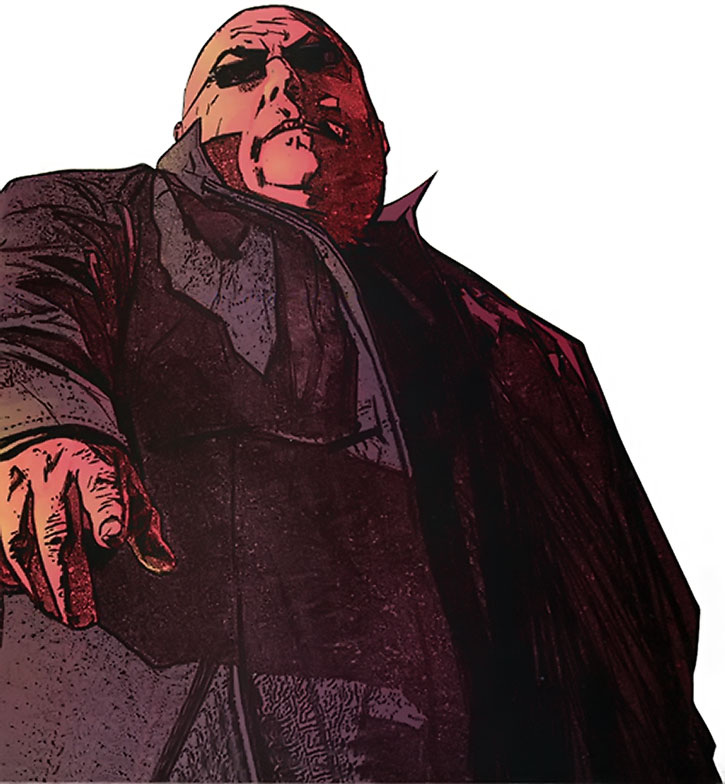 A blind Kingpin (Wilson Fisk) by Maleev