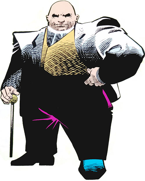Kingpin from the 1983 Marvel Comics handbook