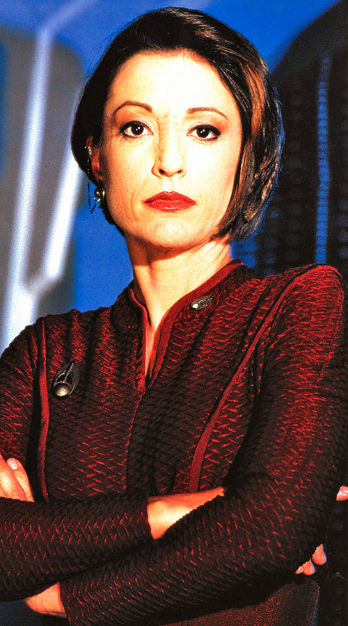 Kira Nerys (Nana Visitor in Star Trek) with arms crossed