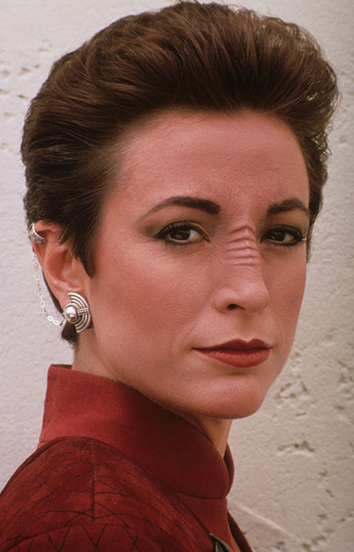 Kira Nerys (Nana Visitor in Star Trek) face closeup