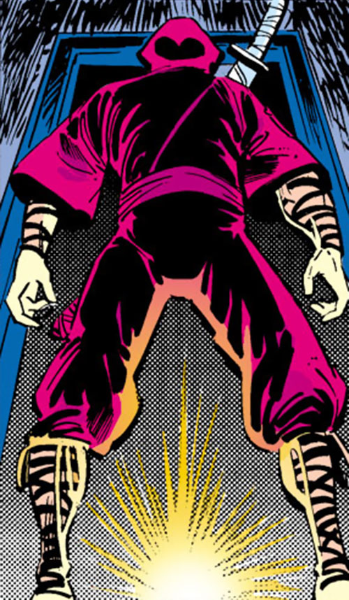 Kirigi of the Hand (Daredevil / Elektra enemy) (Marvel Comics) looking ominous in a doorway