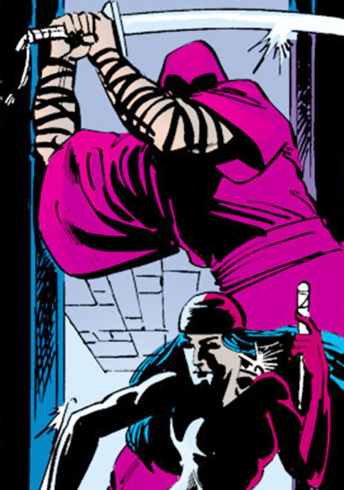 Kirigi of the Hand (Daredevil by Frank Miller) (Marvel Comics) vs. Elektra