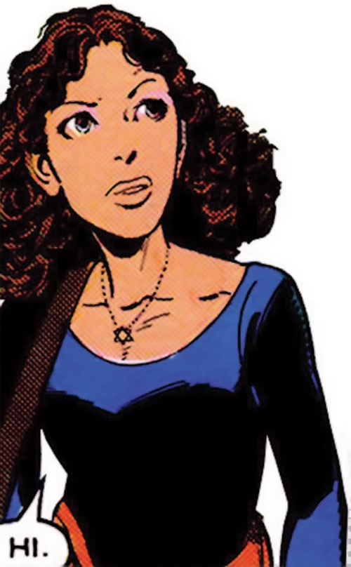 Kitty Pryde of the X-Men (Marvel Comics) (Earliest profile) in a dancing leotard