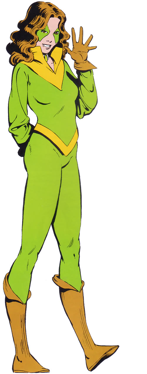 Kitty Pryde of the X-Men in her green Ariel costume (Marvel Comics)