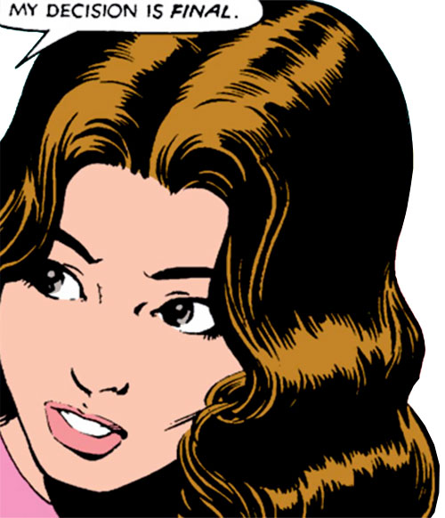 Kitty Pryde of the X-Men (Early) (Marvel Comics) stunned face closeup