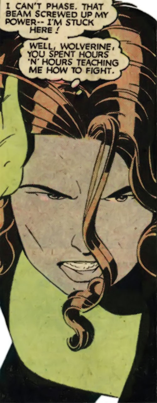 Kitty Pryde of the X-Men (Early) (Marvel Comics) determined face closeup