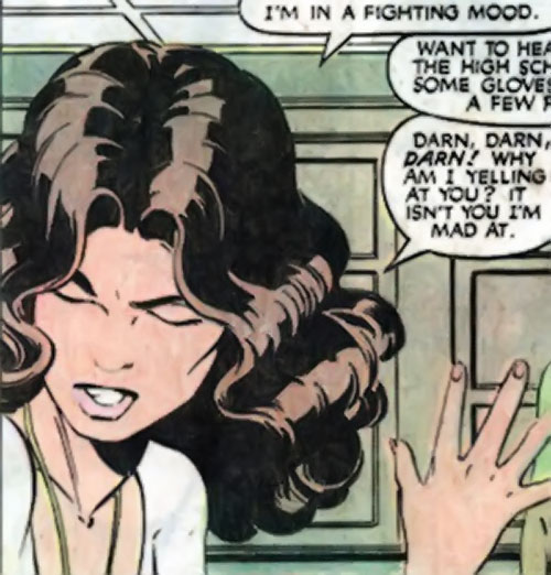 Kitty Pryde of the X-Men (Early) (Marvel Comics) irritated
