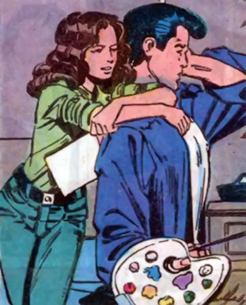 Kitty Pryde of the X-Men (Early) (Marvel Comics) with Peter painting