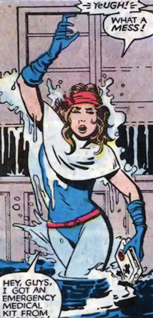 Kitty Pryde of the X-Men (Early) (Marvel Comics) in the sewers with first aid kit