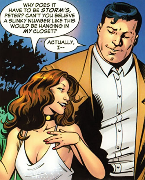Kitty Pryde of the X-Men (Early) (Marvel Comics) white cocktail dress and Peter Rasputin
