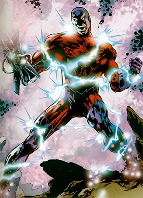Klaw (Marvel Comics) surrounded by energy