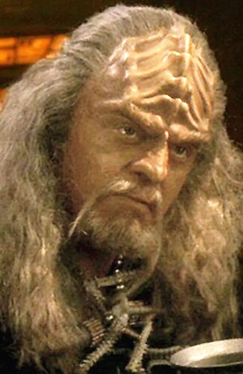Klingon with white hair and beard (Star Trek)