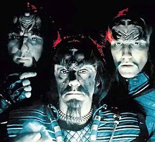 Klingon officers (Star Trek) in the dark