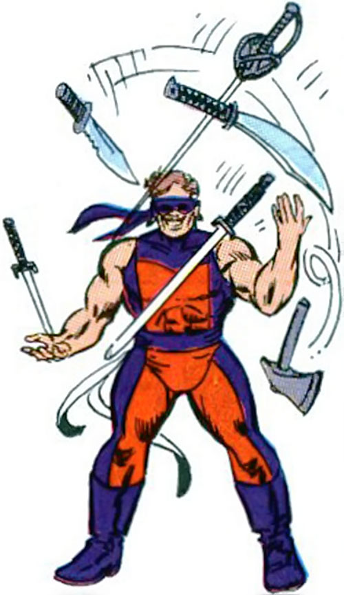 Knickknack of the Death-Throws (Hawkeye enemy) (Marvel Comics) juggling blades