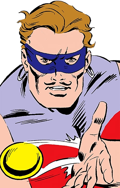 Knickknack of the Death-Throws (Hawkeye enemy) (Marvel Comics) face closeup