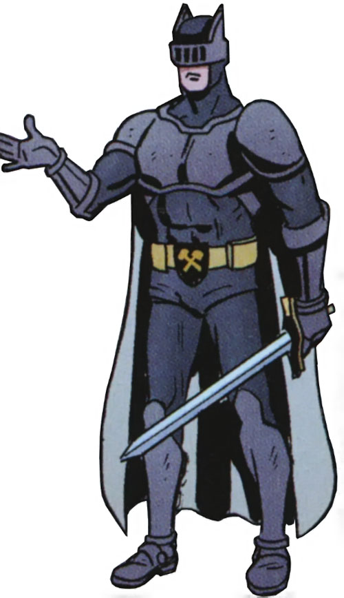 Knight (Batman ally) (DC Comics) (British Sheldrake) with a sword